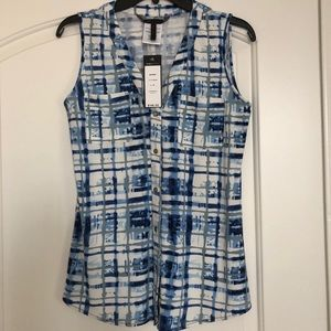 BCBG Maxazria Plaid Blouse S